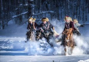 PSA HM Ribbons - Wenjie Luo (China)  Horses Stepping On Flying Snow