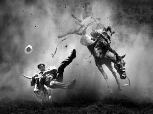 PhotoVivo Silver Medal - Yongxiong Ling (Australia)  Rodeo Thriling 3 Bw