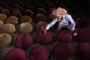 PhotoVivo Honor Mention - Kiah Hwa Ng (Malaysia)  The Joss Sticks Worker II