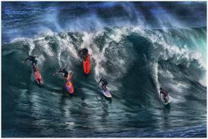 PhotoVivo Bronze Medal - Thomas Lang (USA)  Hawaii Surfers
